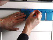 Marking Holes For Drawers