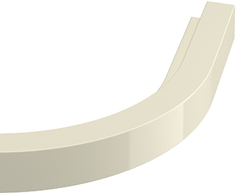 Square end curved cornice