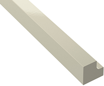 Square end straight cornice
