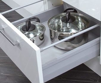 Soft Close Pan Drawer Box and Runners