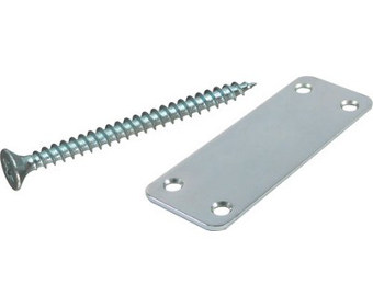 Steel joining plates and screws