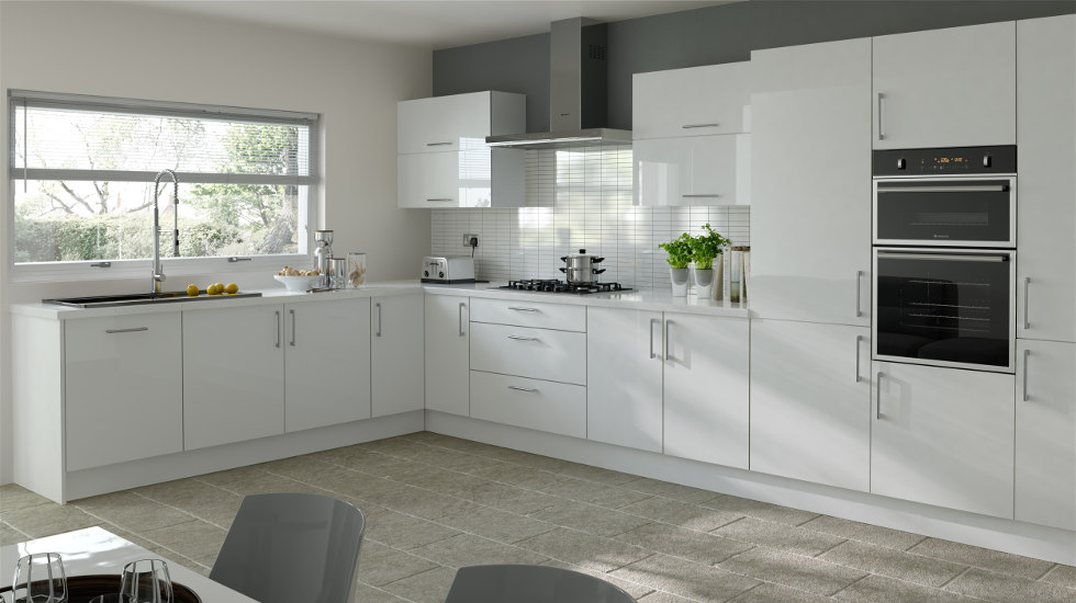 Replacement Kitchen Cabinet Doors White Plain White