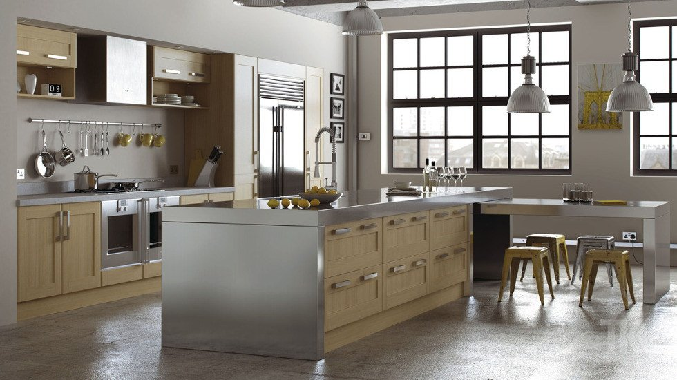 Replacement kitchen doors made to measure from for Wood grain kitchen doors