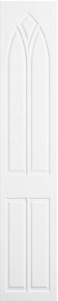 Gothic Satin White Bedroom Doors