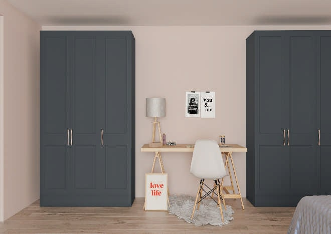 Cambridge Matt Indigo Blue Bedroom Doors