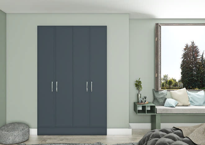 Euroline Matt Indigo Blue Bedroom Doors