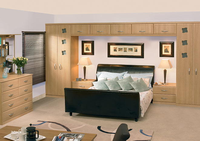 Euroline Oakgrain Grey Bedroom Doors