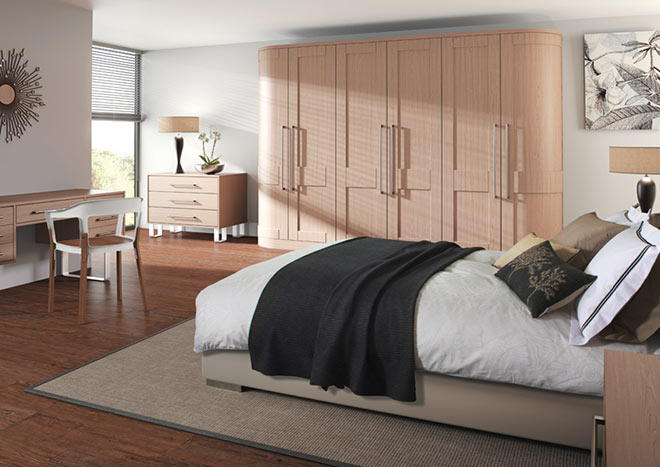 Shaker Super White Ash Bedroom Doors