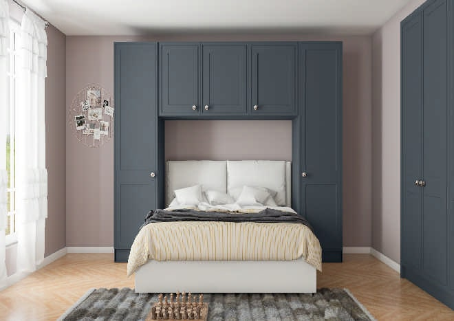 Tullymore Matt Indigo Blue Bedroom Doors