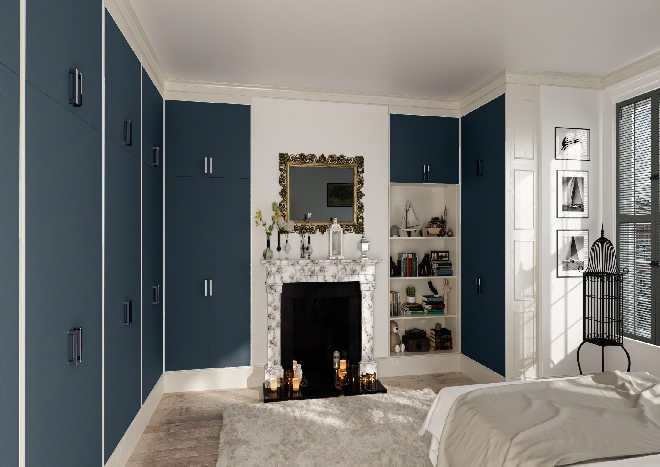Venice Matt Indigo Blue Bedroom Doors