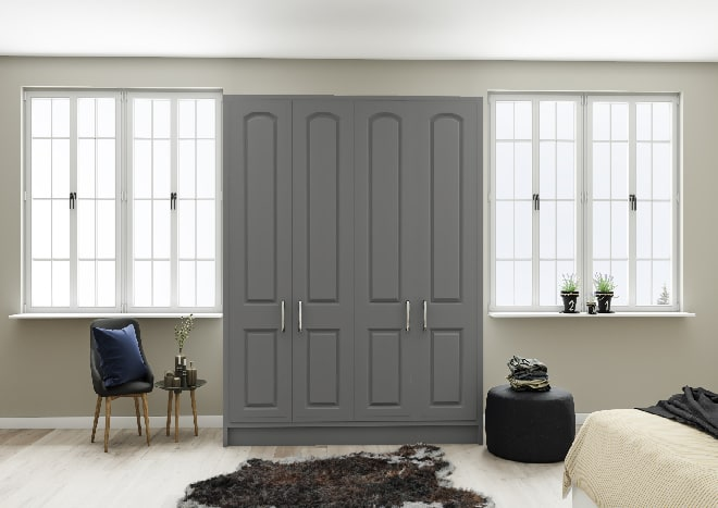 Verona Matt Dust Grey Bedroom Doors