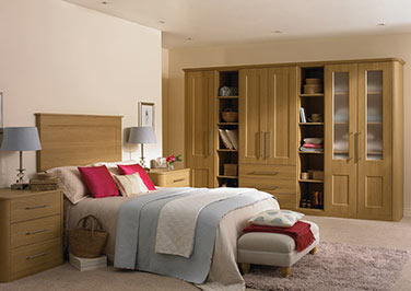 Cambridge Oakgrain Cream Bedroom Doors