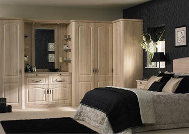 Canterbury High Gloss Snow Larch Bedroom Doors