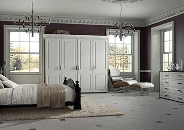 York High Gloss White Bedroom Doors
