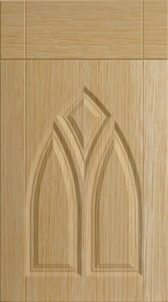Gothic Natural Oak Kitchen Doors