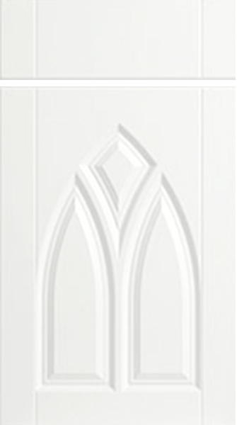 Gothic Super White Ash Kitchen Doors