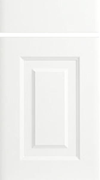 Oxford Satin White Kitchen Doors