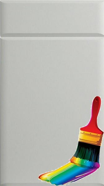 Pisa Paintable Vinyl Kitchen Doors