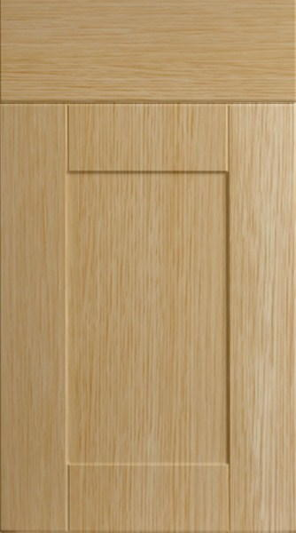 Shaker Natural Oak Kitchen Doors