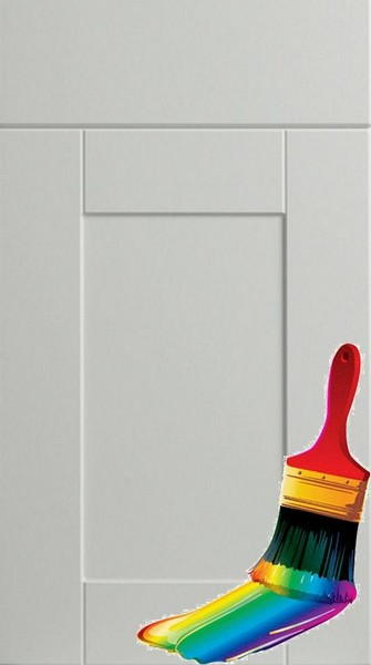 Shaker Paintable Vinyl Kitchen Doors