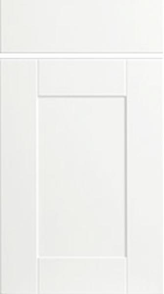 Shaker Super White Ash Kitchen Doors Made To Measure
