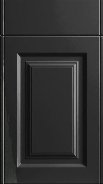 Tuscany High Gloss Black Kitchen Doors