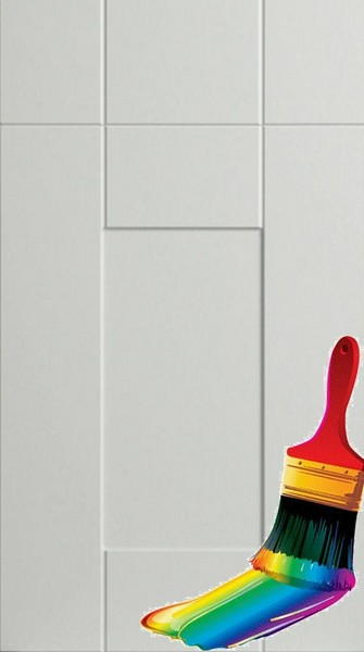 Warwick Paintable Vinyl Kitchen Doors