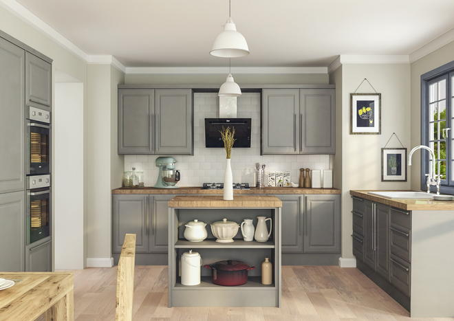 Ashford Oakgrain Grey Kitchen Doors