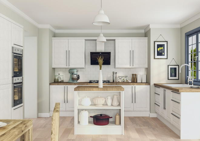 Ashford Satin White Kitchen Doors