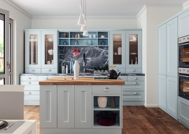 Cambridge Matt Denim Kitchen Doors