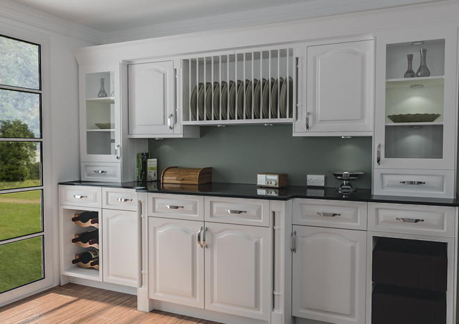 Canterbury Satin White Kitchen Doors