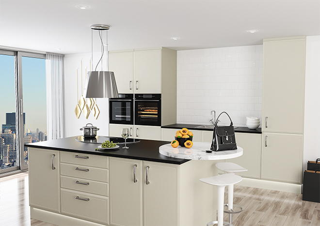 Euroline Alabaster Kitchen Doors
