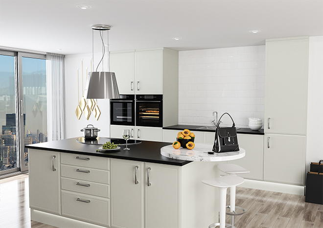 Euroline Matt Dove Grey Kitchen Doors
