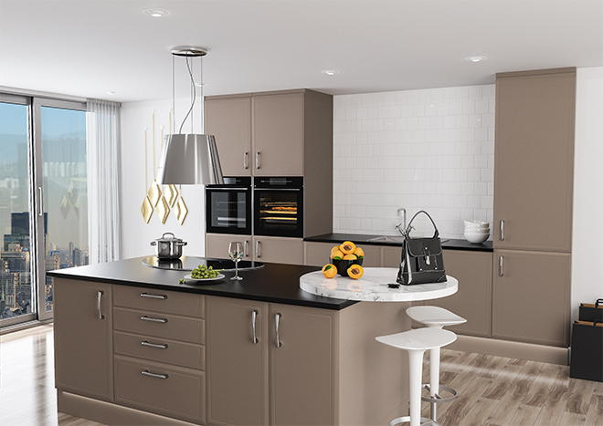 Euroline Matt Stone Grey Kitchen Doors