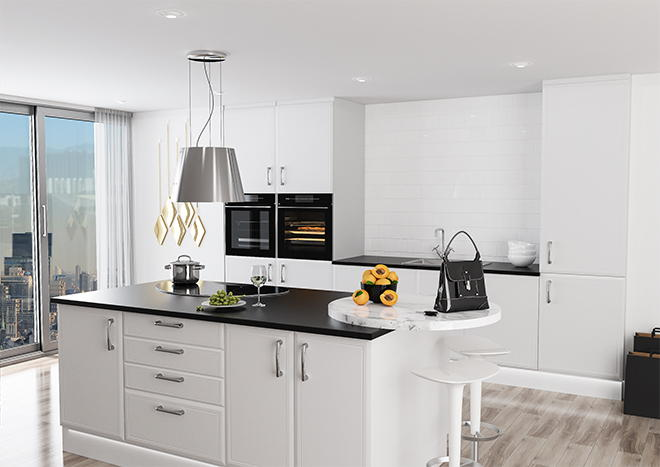 Euroline Super White Ash Kitchen Doors