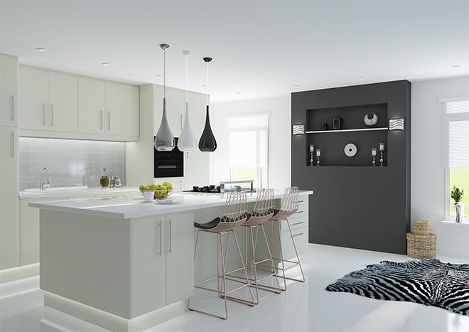 Lincoln Matt Dove Grey Kitchen Doors