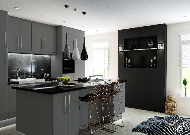 Lincoln Matt Dust Grey Kitchen Doors