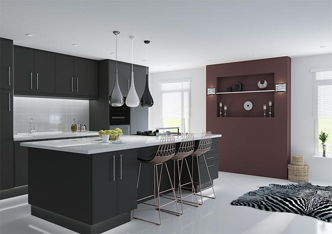 Lincoln Matt Graphite Kitchen Doors