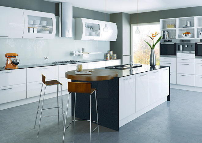 Lincoln High Gloss White Kitchen Doors
