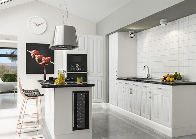 uk availability 1c52f b18a3 Milano High Gloss White Kitchen Doors