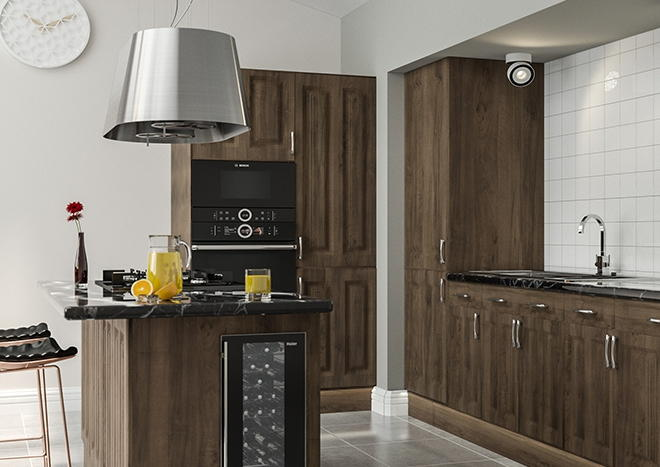 Milano Natural Walnut Kitchen Doors