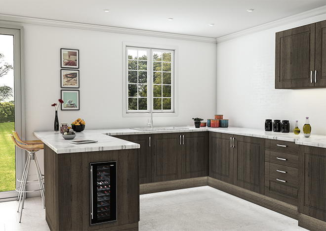 Newport Burnt Oak Kitchen Doors