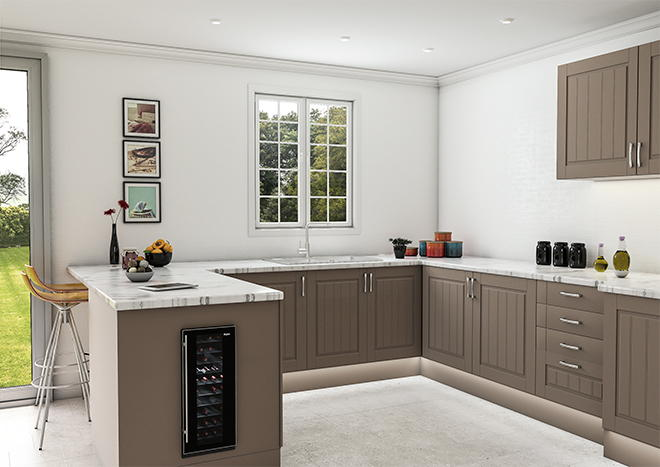 Newport Matt Stone Grey Kitchen Doors