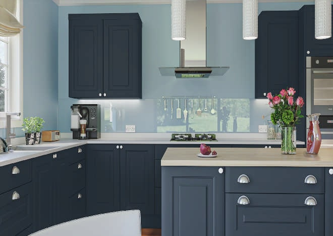 Oxford Matt Indigo Blue Kitchen Doors