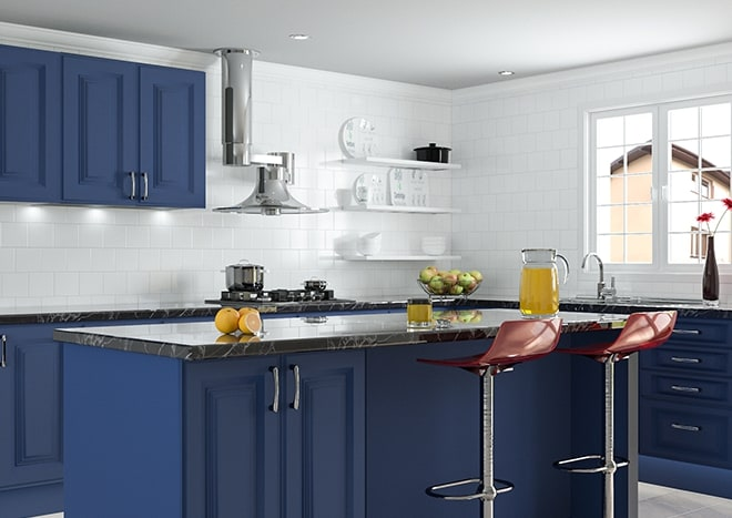 Palermo Matt Indigo Blue Kitchen Doors