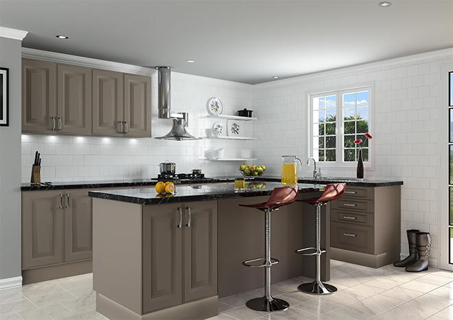 Palermo Matt Stone Grey Kitchen Doors