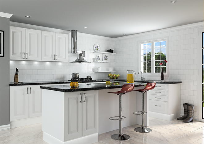 Palermo Satin White Kitchen Doors