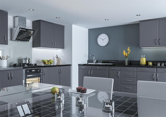 Pisa Matt Graphite Kitchen Doors
