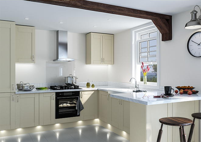 Shaker Ivory Kitchen Doors