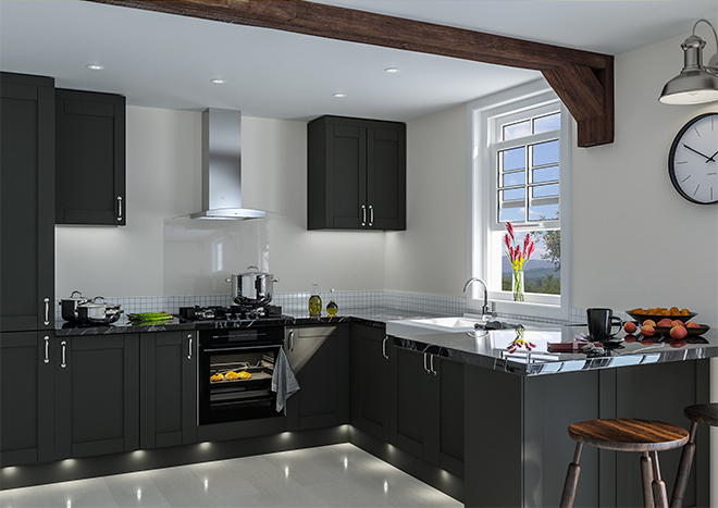 Shaker Matt Graphite Kitchen Doors Made To Measure From